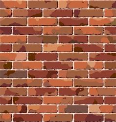 old brick wall seamless pattern vector image vector image