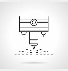 plasma laser flat line icon vector image vector image