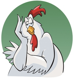 rooster cartoon vector image vector image