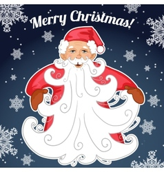 Santa Claus with Christmas tree made from his vector image vector image