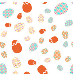 seamless texture easter eggs with oriental spring vector image
