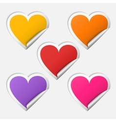 Sticker heart set vector image vector image