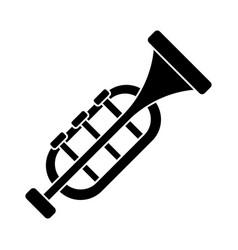 trumpet - horn icon black vector image vector image