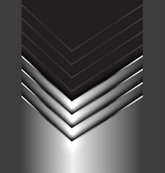 abstract silver arrow direction on dark gray vector image
