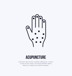 acupuncture flat line icon logo vector image