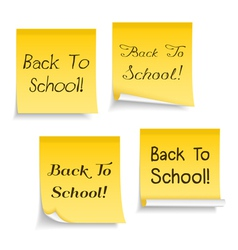 Back To School Sticky Notes vector