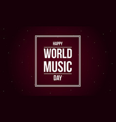 background world music day flat vector image