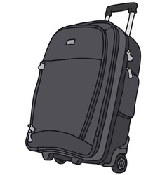 Baggage on wheels vector