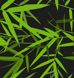 Bamboo leaf pattern2 vector