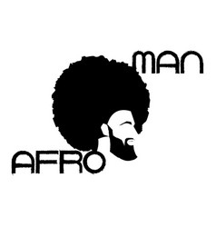 Black man portrait with afro curly design barber vector