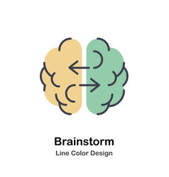Brainstorm lineal color icon vector