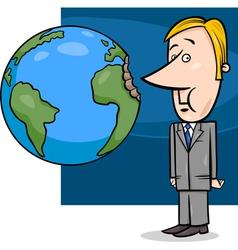 business concept cartoon vector image