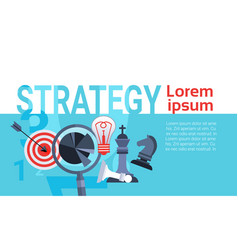 business concept successful strategy planning new vector image