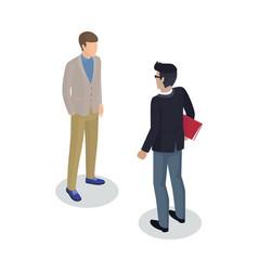 Businessman and client set vector