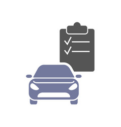 car diagnostics icon checklist and car vector image