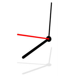 Clock clock isolated on white eps 10 vector