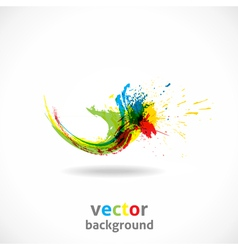 Color Ink Splash Grunge Background vector image