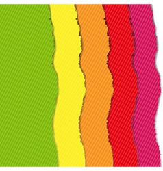 Color Torn Paper Borders Set vector image