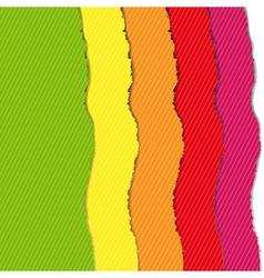 Color Torn Paper Borders Set vector