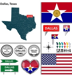 Dallas Texas set vector
