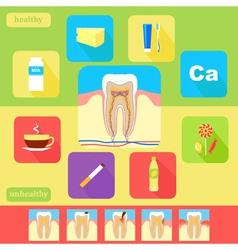 Dental health icons vector image