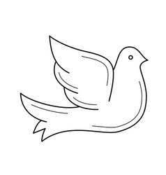 Dove line icon vector