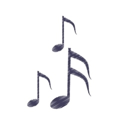 Drawing musical note melody symbol vector
