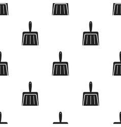 Dustpan black icon for web and vector
