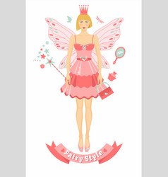 Fairy tail person with wings vector