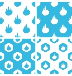 Flame patterns set vector