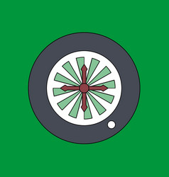 Flat icon design collection casino roulette wheel vector