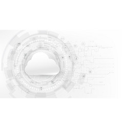 Futuristic cloud and technology grey with a white vector