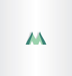 green logo of letter m icon vector image