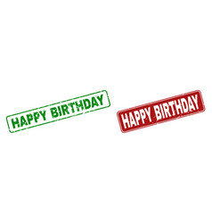 grunge happy birthday watermarks with rounded vector image