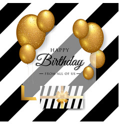Happy birthday celebration typography design vector
