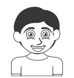 happy boy icon vector image vector image