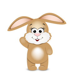 Happy easter funny bunny vector