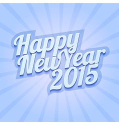 Happy New Year 2015 on blue background vector