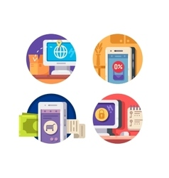 Internet technology icons vector