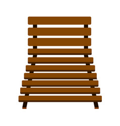 isolated beach chair icon vector image
