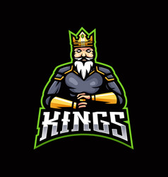 King gaming logo vector