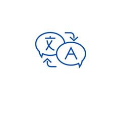 language translation line icon concept language vector image