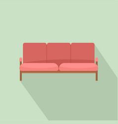ledger sofa icon flat style vector image