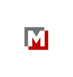 Letter m logo icon design vector