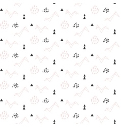 Light pink origami bird seamless pattern for kids vector image