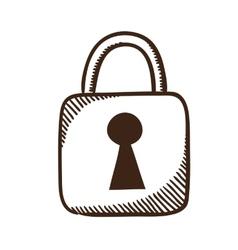 Lock symbol vector image