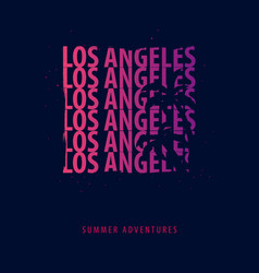 Los angeles summer graphic with palms t-shirt vector