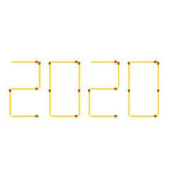Matches 2020 lettering vector