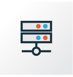 Media server colorful outline symbol premium vector