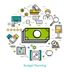 Money control and budget planning vector